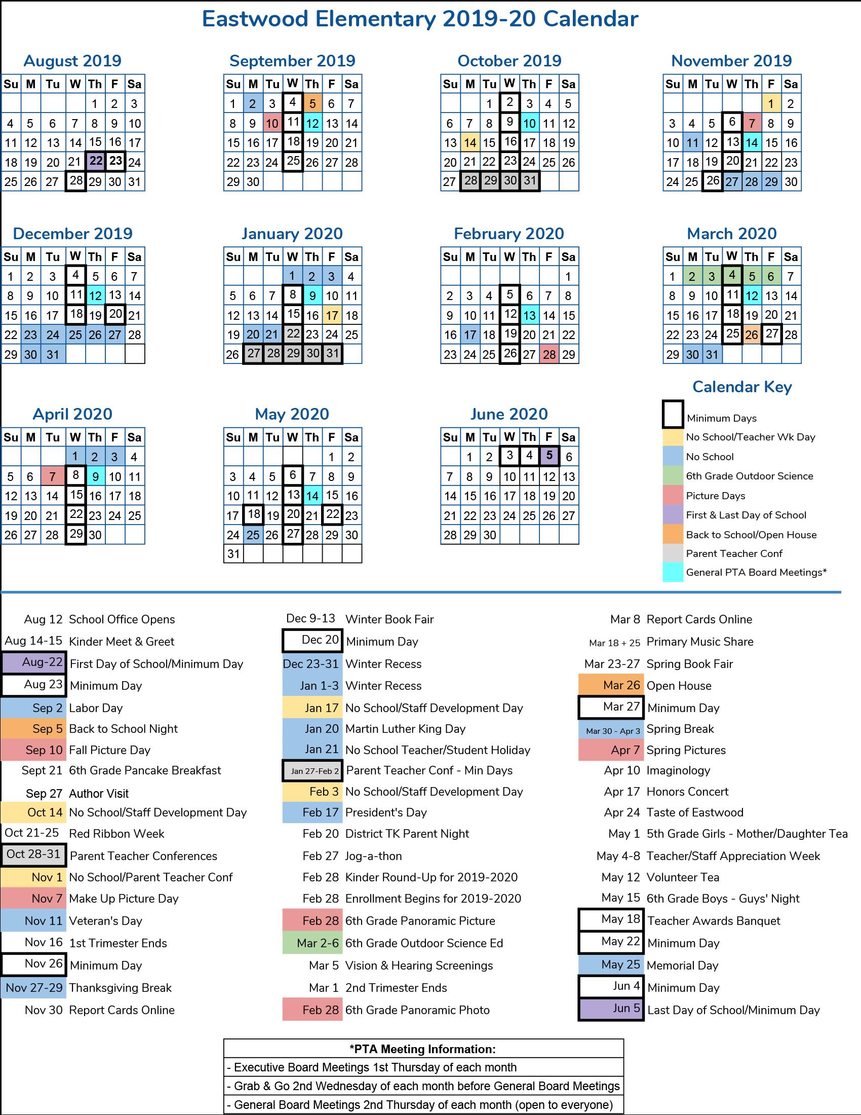Iusd Calendar